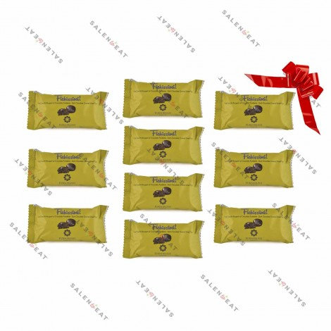 Organic Dried Figs Covered With Dark Chocolate, 10 x 40 g